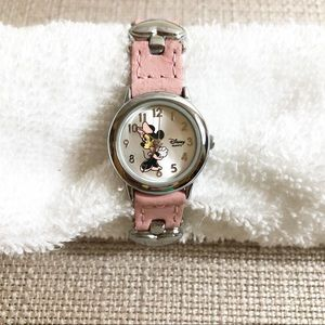 Girl's Disney Minnie Mouse Leather Watch